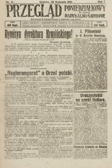 Przegląd Poniedziałkowy : pismo radykalno-narodowe. 1919, nr11