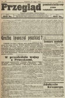 Przegląd Poniedziałkowy : pismo radykalno-narodowe. 1919, nr15