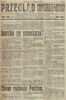 Przegląd Poniedziałkowy : pismo radykalno-narodowe. 1919, nr17