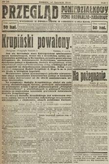 Przegląd Poniedziałkowy : pismo radykalno-narodowe. 1919, nr18