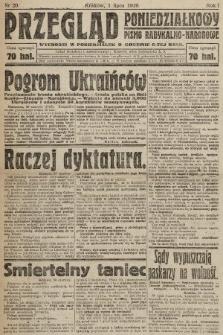 Przegląd Poniedziałkowy : pismo radykalno-narodowe. 1919, nr20