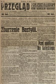 Przegląd Poniedziałkowy : pismo radykalno-narodowe. 1919, nr22