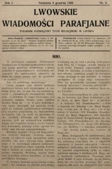 Lwowskie Wiadomości Parafialne : tygodnik poświęcony życiu religijnemu m. Lwowa. 1928, nr2
