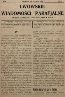 Lwowskie Wiadomości Parafialne : tygodnik poświęcony życiu religijnemu m. Lwowa. 1928, nr3