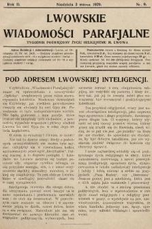 Lwowskie Wiadomości Parafialne : tygodnik poświęcony życiu religijnemu m. Lwowa. 1929, nr9