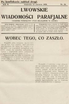 Lwowskie Wiadomości Parafialne : tygodnik poświęcony życiu religijnemu m. Lwowa. 1929, nr24 [nakład drugi po konfiskacie]