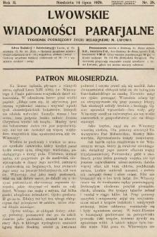 Lwowskie Wiadomości Parafialne : tygodnik poświęcony życiu religijnemu m. Lwowa. 1929, nr28