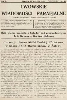 Lwowskie Wiadomości Parafialne : tygodnik poświęcony życiu religijnemu m. Lwowa. 1929, nr39