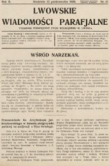 Lwowskie Wiadomości Parafialne : tygodnik poświęcony życiu religijnemu m. Lwowa. 1929, nr41