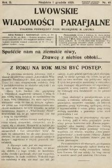 Lwowskie Wiadomości Parafialne : tygodnik poświęcony życiu religijnemu m. Lwowa. 1929, nr48