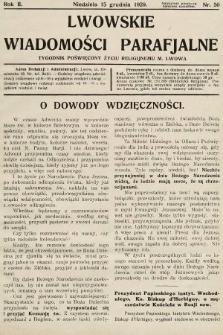 Lwowskie Wiadomości Parafialne : tygodnik poświęcony życiu religijnemu m. Lwowa. 1929, nr50