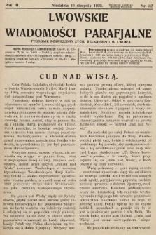 Lwowskie Wiadomości Parafialne : tygodnik poświęcony życiu religijnemu m. Lwowa. 1930, nr32