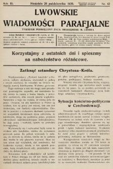 Lwowskie Wiadomości Parafialne : tygodnik poświęcony życiu religijnemu m. Lwowa. 1930, nr43