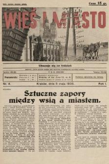 Wieś i Miasto : tygodnik apolityczny. 1935, nr4