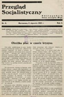 Przegląd Socjalistyczny. 1932, nr2