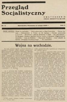 Przegląd Socjalistyczny. 1932, nr5
