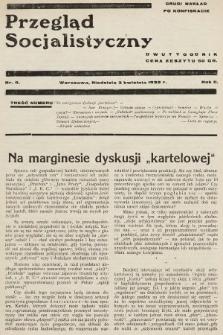 Przegląd Socjalistyczny. 1932, nr9 (drugi nakład po konfiskacie)