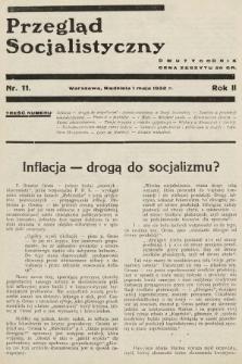 Przegląd Socjalistyczny. 1932, nr11