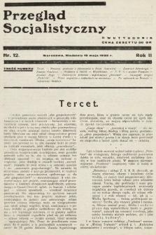 Przegląd Socjalistyczny. 1932, nr12