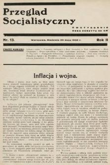 Przegląd Socjalistyczny. 1932, nr13
