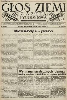 Głos Ziemi : gazeta tygodniowa. 1938, nr2