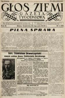 Głos Ziemi : gazeta tygodniowa. 1938, nr3