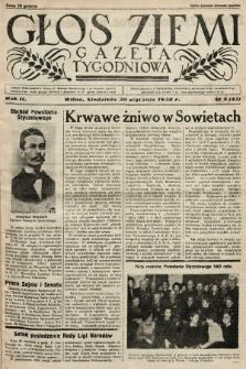Głos Ziemi : gazeta tygodniowa. 1938, nr5