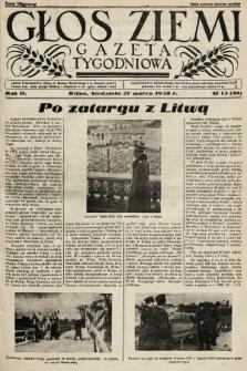 Głos Ziemi : gazeta tygodniowa. 1938, nr13