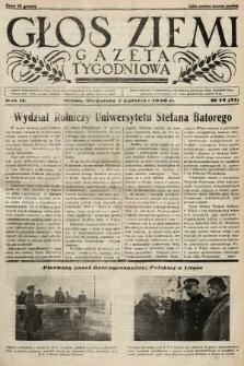 Głos Ziemi : gazeta tygodniowa. 1938, nr14