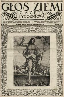 Głos Ziemi : gazeta tygodniowa. 1938, nr16
