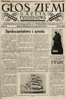 Głos Ziemi : gazeta tygodniowa. 1938, nr17