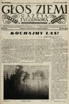 Głos Ziemi : gazeta tygodniowa. 1938, nr18