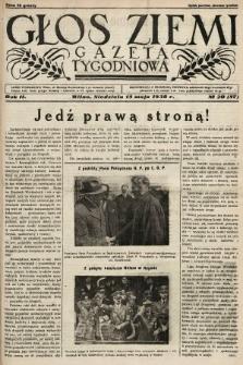Głos Ziemi : gazeta tygodniowa. 1938, nr20