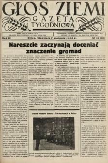 Głos Ziemi : gazeta tygodniowa. 1938, nr32