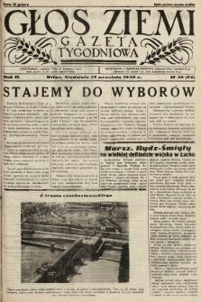 Głos Ziemi : gazeta tygodniowa. 1938, nr39