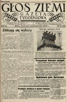 Głos Ziemi : gazeta tygodniowa. 1938, nr41