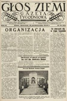 Głos Ziemi : gazeta tygodniowa. 1938, nr44