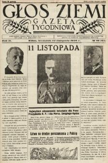 Głos Ziemi : gazeta tygodniowa. 1938, nr46