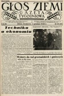 Głos Ziemi : gazeta tygodniowa. 1938, nr50