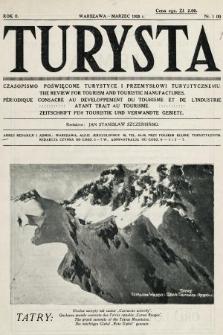 Turysta : czasopismo poświęcone turystyce i przemysłowi turystycznemu. 1928, nr1
