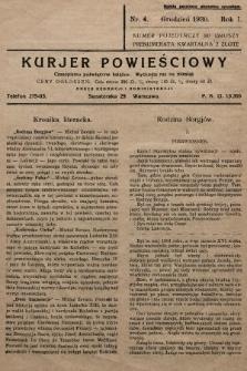 Kurjer Powieściowy : czasopismo poświęcone książce. 1930, nr4