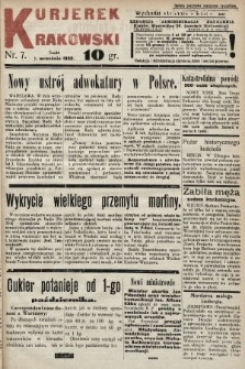 Kurjerek Krakowski. 1932, nr7