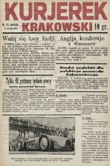 Kurjerek Krakowski. 1932, nr25
