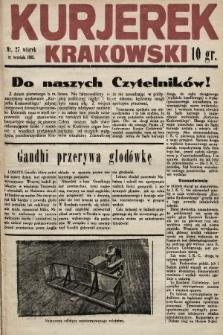 Kurjerek Krakowski. 1932, nr27