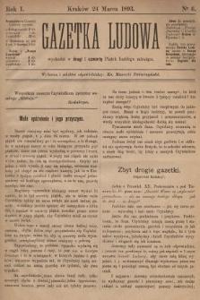 Gazetka Ludowa. 1893, nr6
