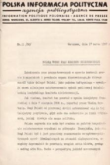 Polska Informacja Polityczna : agencja publicystyczna = Information Politique Polonaise : agence de presse. 1937, nr11 (50)