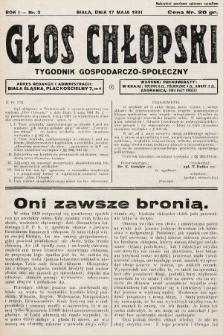 Głos Chłopski : tygodnik gospodarczo-społeczny. 1931, nr3