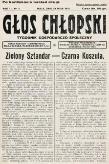 Głos Chłopski : tygodnik gospodarczo-społeczny. 1931, nr4