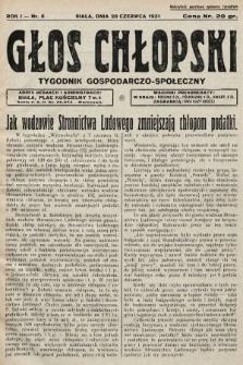 Głos Chłopski : tygodnik gospodarczo-społeczny. 1931, nr8