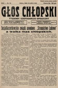 Głos Chłopski : tygodnik gospodarczo-społeczny. 1931, nr10